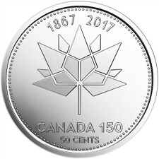 2017 CANADA 50 CENTS 1867-2017 150TH ANNIVERSARY OF CANADA PROOF-LIKE COIN