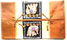 THAI SILK TISSUE BOX COVER BROWN CASE HOME DÉCOR HANDMADE ELEPHANT HANDCRAFTS