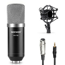 NW-700 Condenser Microphone+Shock Mount+Power Cable+Anti-wind Foam Cap(Black)