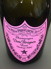 "DOM PERIGNON ""LITE- UP""  Rose  750 **EMPTY** CHAMPAGNE BOTTLE 2000 Vintage"