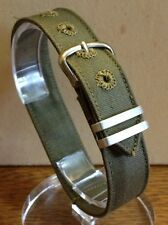 NOS MILITARY ISSUE Watch BAND 1 Piece 5/8 in (16 mm) WWII WW2 World War 2 BRITE