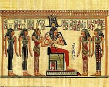 Pharoah with His Servants: 10x8 In. Contemporary Egyptian Art Print