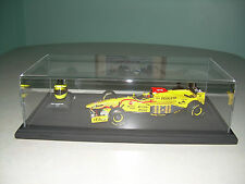 BRAND NEW DISPLAY CASE WITH WOOD BASE ASCARI,SENNA,MANSELL,PROST,ALONSO,VETTEL