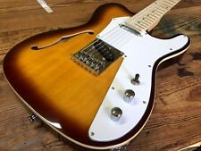NEW THINLINE SEMI HOLLOW TOBACCO BURST TELE STYLE 12 STRING ELECTRIC GUITAR