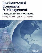 Environmental Economics and Management: Theory, Policy and Applications (Book On
