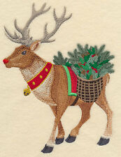 Embroidery Christmas quilt block,cushion panel,wall art, machine,quilt,rudolph