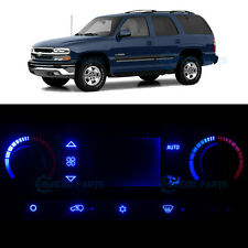 Full Kit Air Condition Climate Heater Blue LED Lights for 2003-2004 Chevy Tahoe