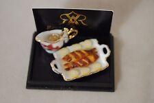 Grilled Fish Platter Reutter Porcelain Dollhouse miniature 1/12 scale