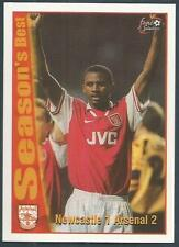 FUTERA-ARSENAL 1997- #51-SEASON'S BEST-NEWCASTLE 1 ARSENAL 2-VIEIRA ARMS ALOFT