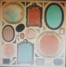 "12X12"" Scrapbook Paper Periwinkle Collection Frames Single Sided"