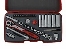 Teng Tool APRIL SALE 1/4 Deep Regular Socket Ratchet Extension Tool Set +Case