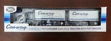 Die-cast Promotions DCP 1:64 Freightliner Cascadia W Pup Trailers Conway Freight