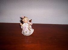 Vintage Lefton January  Birthday Angel Figurine  Rhinestones 1987J
