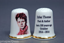 Dylan Thomas Born 100 Years Ago October 1914 China Thimble B/144