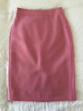 J Crew Double Serge Wool No 2 Pencil Skirt in Pink 2 T Tall