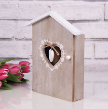 SHABBY CHIC IN LEGNO Chiave Scatola Storage Holder paese Francese Casa Grigio