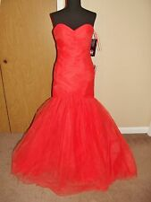 FLIRT BY MAGGIE SOTTERO P4708 PROM PARTY PAGEANT DRESS 4 TANGERINE $115 OBO NWT