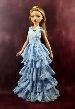 "Handmade Doll Clothes For Ellowyne wilde 16"" sweet plaid dress"