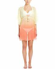 Bleu Rod Beattie Tequila Sunrise Banana Ombre Cover Up $79 Retail Size M NEW