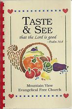 *GREELEY CO 1999 MOUNTAIN VIEW EVANGELICAL FREE CHURCH COOK BOOK *COLORADO RARE