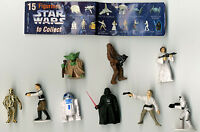 Star Wars Tombola Figure Set of 9 Figure Food  Premiums From Spain