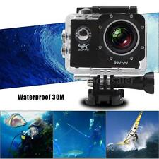 WiFi 4K Ultra HD 1080P 4X Zoom Waterproof Sports DV Action Camera Camcorder Q4K0