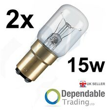 2 x  SBC B15 BRANDED 15w Appliance / Fridge / Sewing Machine Light Bulbs /Lamps