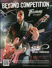 Devin Townsend Project Band for Framus guitar ad 8 x 11 advertisement