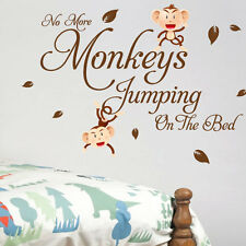 Monkey Bedroom Children Nursery Wall Quotes Stickers Wall Decals Wall Arts 13