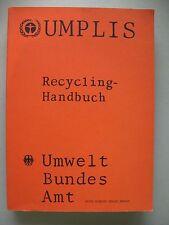Umplis Recycling-Handbuch Umweltbundesamt 1982 Recycling