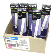 LOT OF 6 NIB PHILIPS PL-S COMPACT FLUORESCENT LAMPS 827/2P, 9 WATTS 10000 HRS