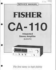 Fisher Original Service Manual für CA- 110