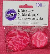 Camo (Pink) Mini Cupcake Papers,Wilton,100 ct, Bake Cup,415-8073