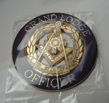 ZP414 Large Freemason Grand Lodge Officer Metal Badge in Purple Gloss Finish