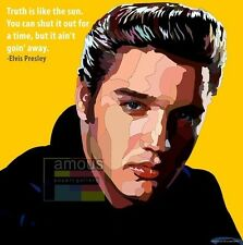 Elvis Presley canvas quotes wall decals photo painting framed pop art poster