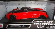 MOTORMAX  PAGANI HUAYRA 1/24 DIECAST MODEL CAR RED with BLACK WHEELS 79312