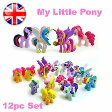 Set of 12 Pcs My Little Pony Cake Toppers PVC Action Figures Kids Girl Toy Dolls