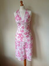 GREAT PLAINS LADIES PINK AND WHITE FLORAL DRESS SIZE XS NEW WITH TAGS