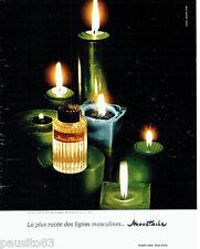 PUBLICITE ADVERTISING 066  1967   Rochas   eau toilette Cologne Moustache