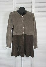 Women's Tops & Blouses Janis by Janis Siegal Chenille Top / Jacket Brown (s/ CMP