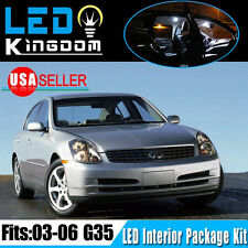 18 X Xenon White LED Light Bulbs Interior Package Kit for 2003-2006 Infiniti G35