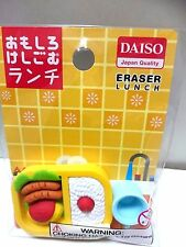 DAISO Fun Eraser Fake Food Lunch Made in Japan
