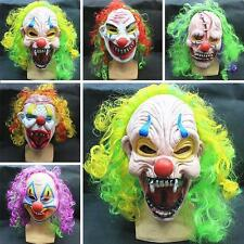 New Halloween Scary Mask Circus Clown Head Adult Costume Accessory Color Random