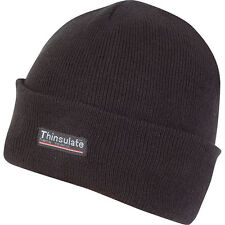 NEW Kombat One Size Fits All Black 100% Acrylic Thinsulate Lined Bob Hat Beanie