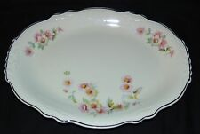 "Homer Laughlin VIRGINIA ROSE MOSS ROSE *11 1/2"" OVAL PLATTER *B67N8*"