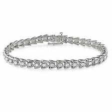 Sterling Silver Diamond Tennis Bracelet 2 Ct G-H I3 7""