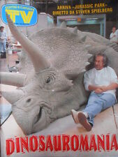 TV Sorrisi e Canzoni n°39 1993 NUmero Speciale Jurassic Park Spielberg [D44]