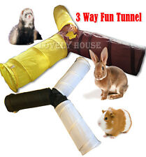 3 WAYS Foldable Pet Fun Tunnel Rabbit Ferret Guinea Pig Small Animal Play Toy
