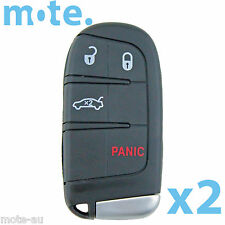 2 x Chrysler 300 LX 2012 - 2014 4 Button Key Remote Case/Shell/Blank/Enclosure