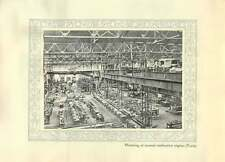 1920 Italy Turin Mounting Internal Combustion Engines Factory Interior